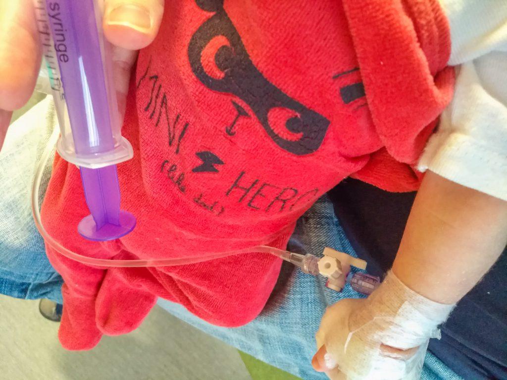 Bébé hospitalisé pour une sténose du pylore