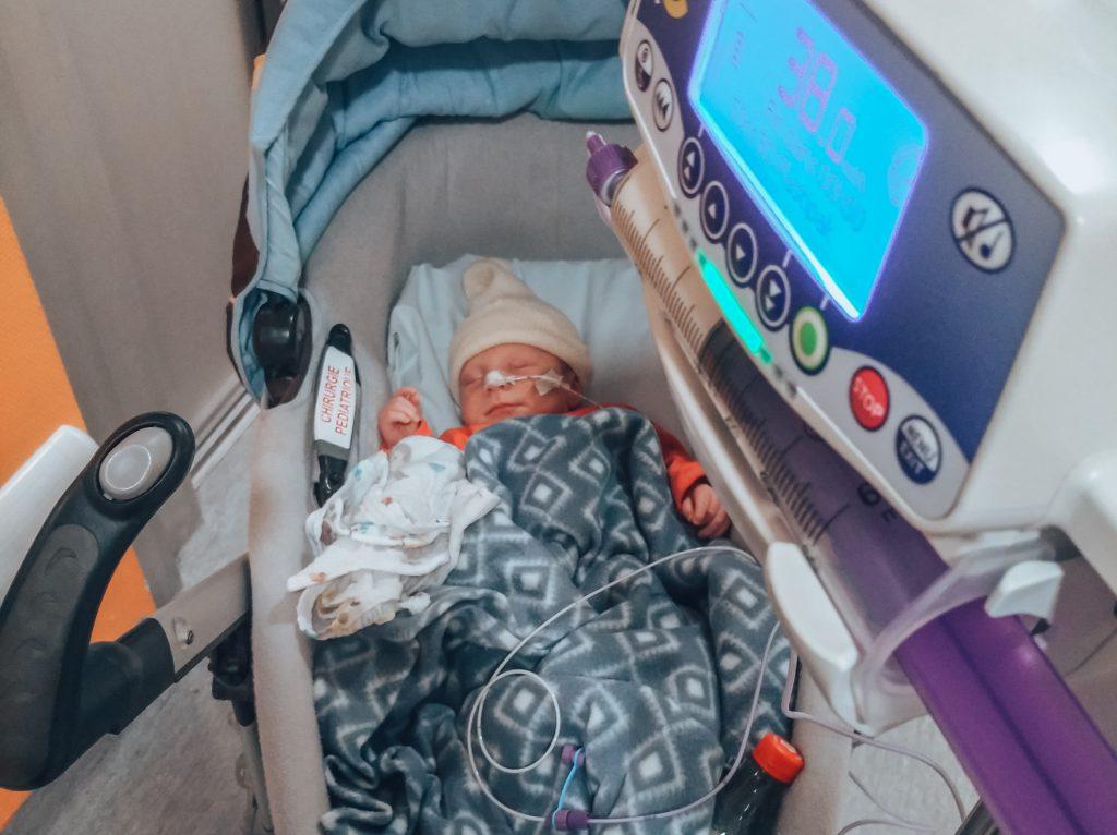 hospitalisation bébé sténose du pylore